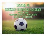 TONIGHT: Soccer vs Elkhart Christian Academy