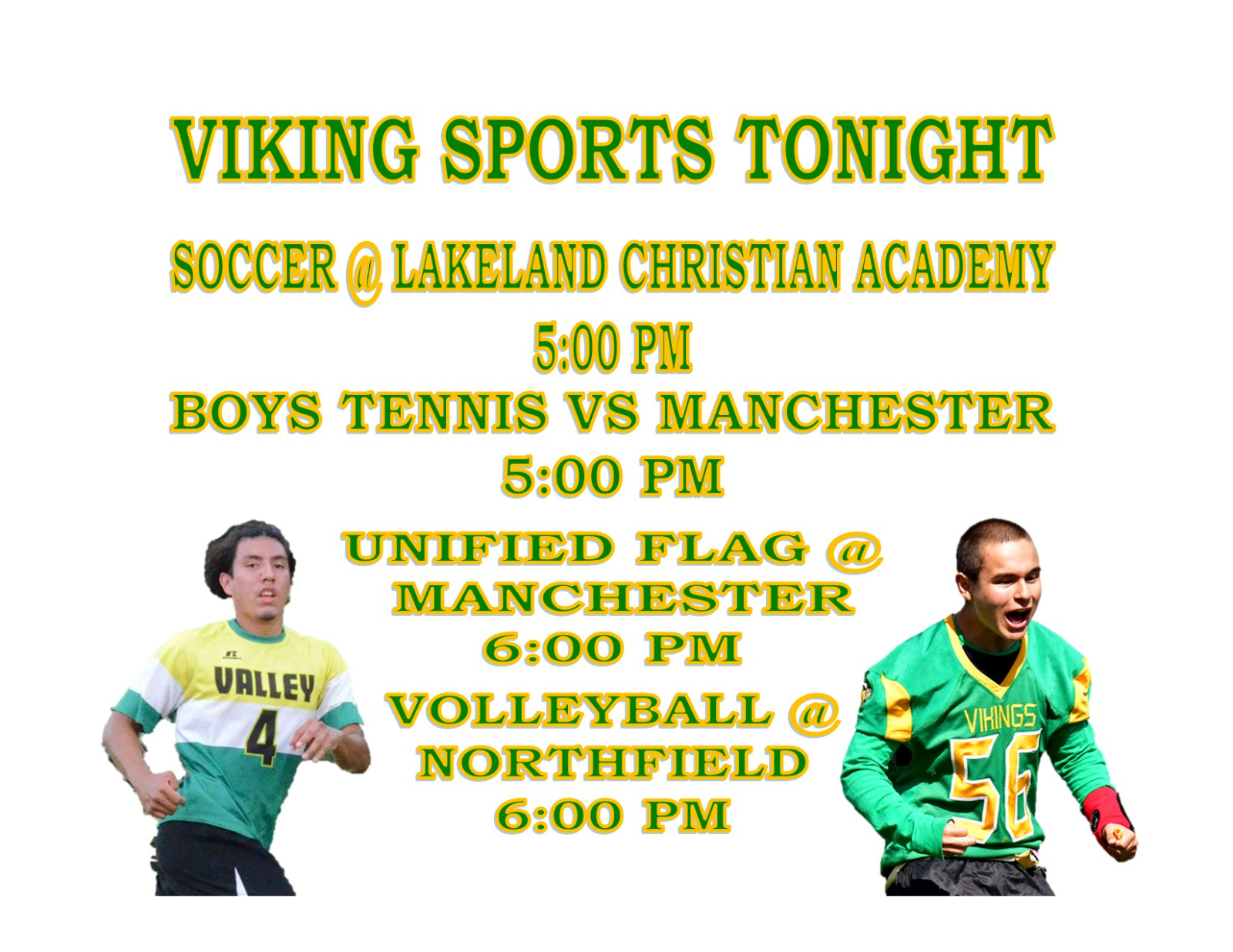 TONIGHT: Four Sports in Action