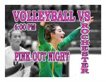 TONIGHT: Volleyball vs Rochester – Pink Out Night