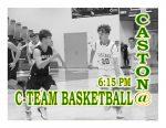 TONIGHT: C-Team Basketball vs Caston