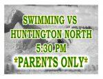 TONIGHT: Swimming vs Huntington North + Streaming Link