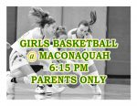 TONIGHT: Girls Basketball @ Maconaquah + Streaming Link – Parents Only
