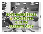 TONIGHT: Boys Basketball @ Rochester + Streaming Link – Parents Only