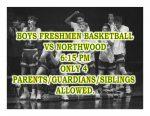 TONIGHT: Boys Freshmen Basketball vs Northwood