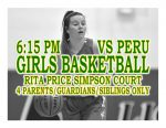 TONIGHT: Girls Basketball vs Peru + Streaming Link – Family Only