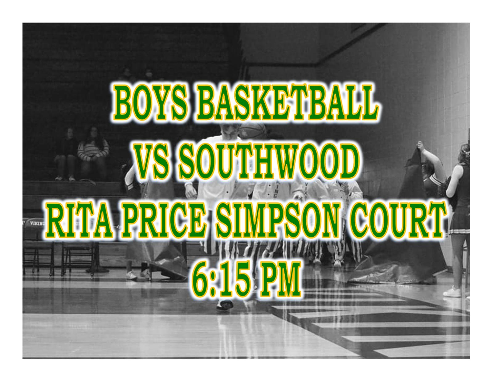 TONIGHT: Boys Basketball vs Southwood + Streaming Link