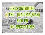 TONIGHT: Girls Swimming @ TRC + Streaming Link – No Spectators