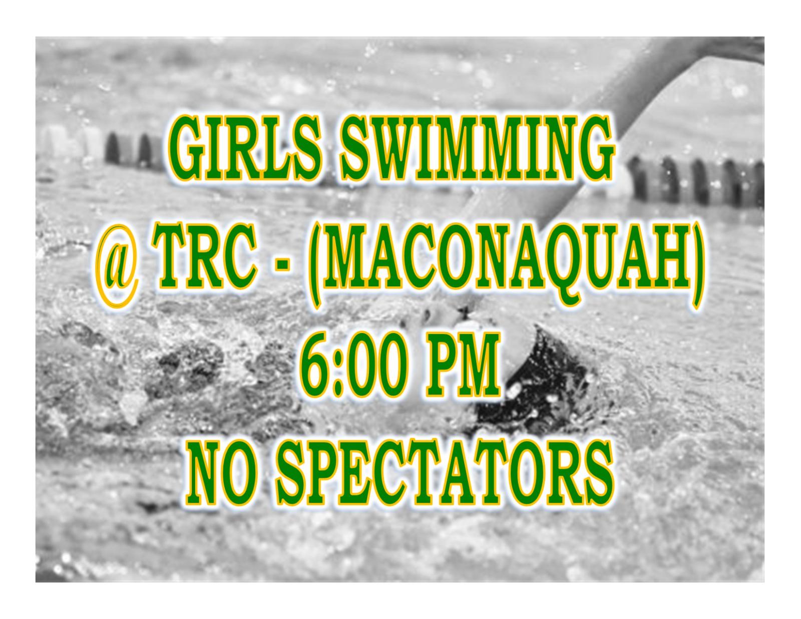 TONIGHT: Girls Swimming @ TRC + Streaming Link – No Spectators