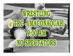 TODAY: Wrestling @ TRC + Streaming Link – No Spectators