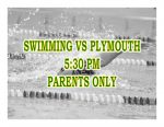 TONIGHT: Swimming vs Plymouth – Parents Only