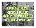 TONIGHT: Boys Basketball vs North Judson – Online Pre-Sale Only