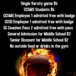 Basketball Game Day Info