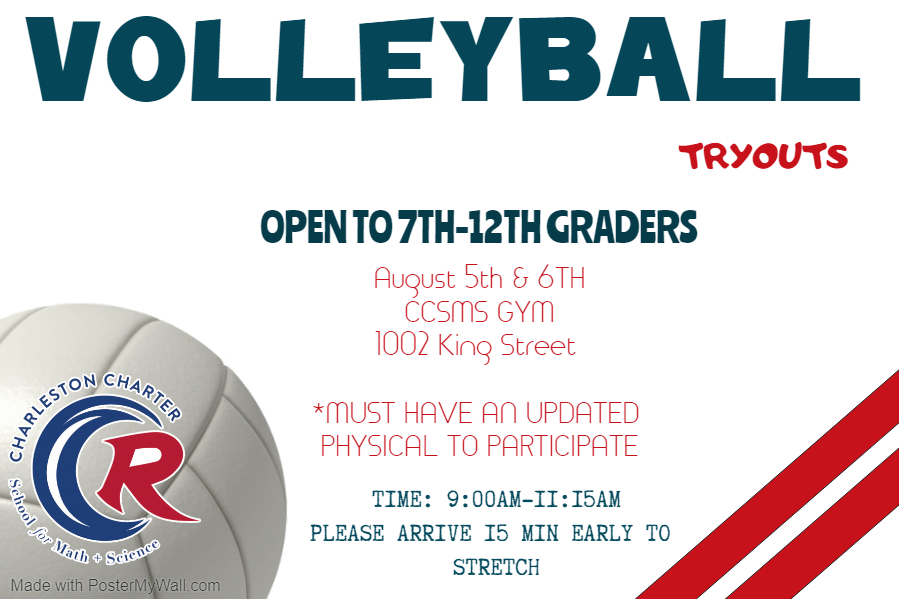 Volleyball Tryouts Set for August 5th & 6th