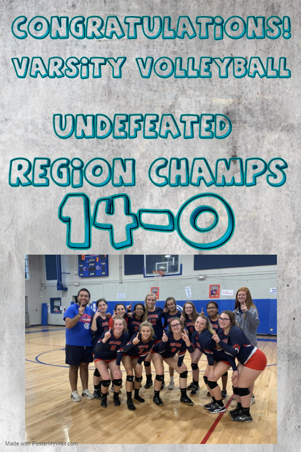 Volleyball Undefeated Region Champs!!