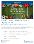 MUSC Health Walk-In Sports Injury Clinic