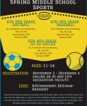 Middle School Co-Ed Soccer Registration *DEADLINE EXTENSION*