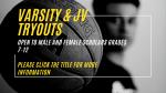 Varsity & JV Basketball Tryouts Monday 11/2 & Wednesday 11/4