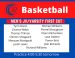 Men's Basketball First Cut
