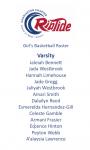 2020-2021 Girl's Basketball Roster