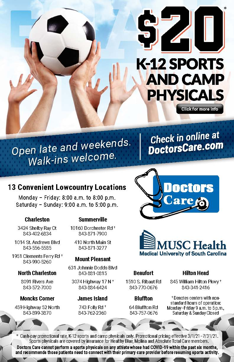 2021-2022 ATHLETIC PHYSICALS AVAILABLE – $20.00