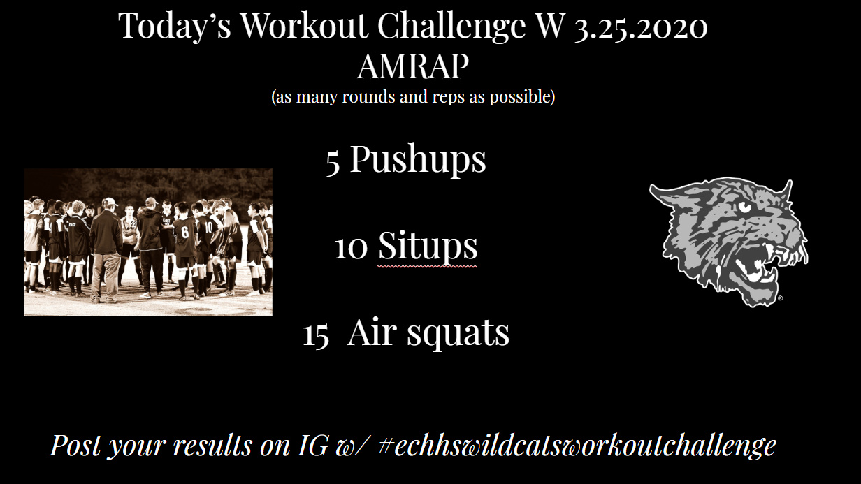 Wildcats Workout Challenge | W 3.25.2020