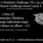 Wildcat Workout Challenge | TH 3.26.2020