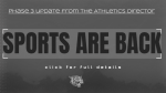 SPORTS ARE BACK  | Full Details Now Available