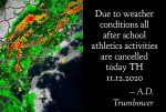 Weather Causes Cancellations Today | TH 11.12.2020