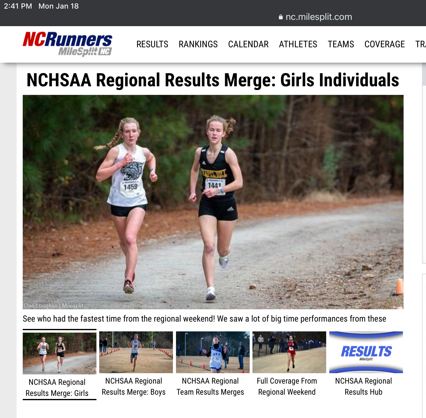 Cross Country – MidEast Regionals   ST 01.16.2021