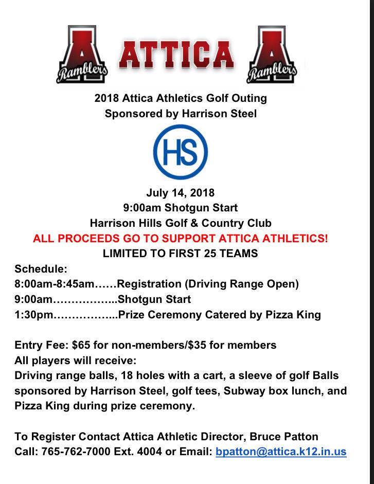 2018 Attica Athletics Golf Outing