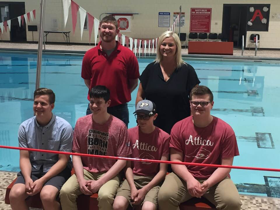 Junior High Swimmers Breaking Records!