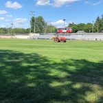 Football Game Field Closed for Fertilizing