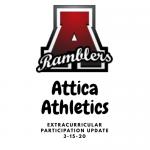 Attica Athletics/ ExtraCurricular Participation Update,