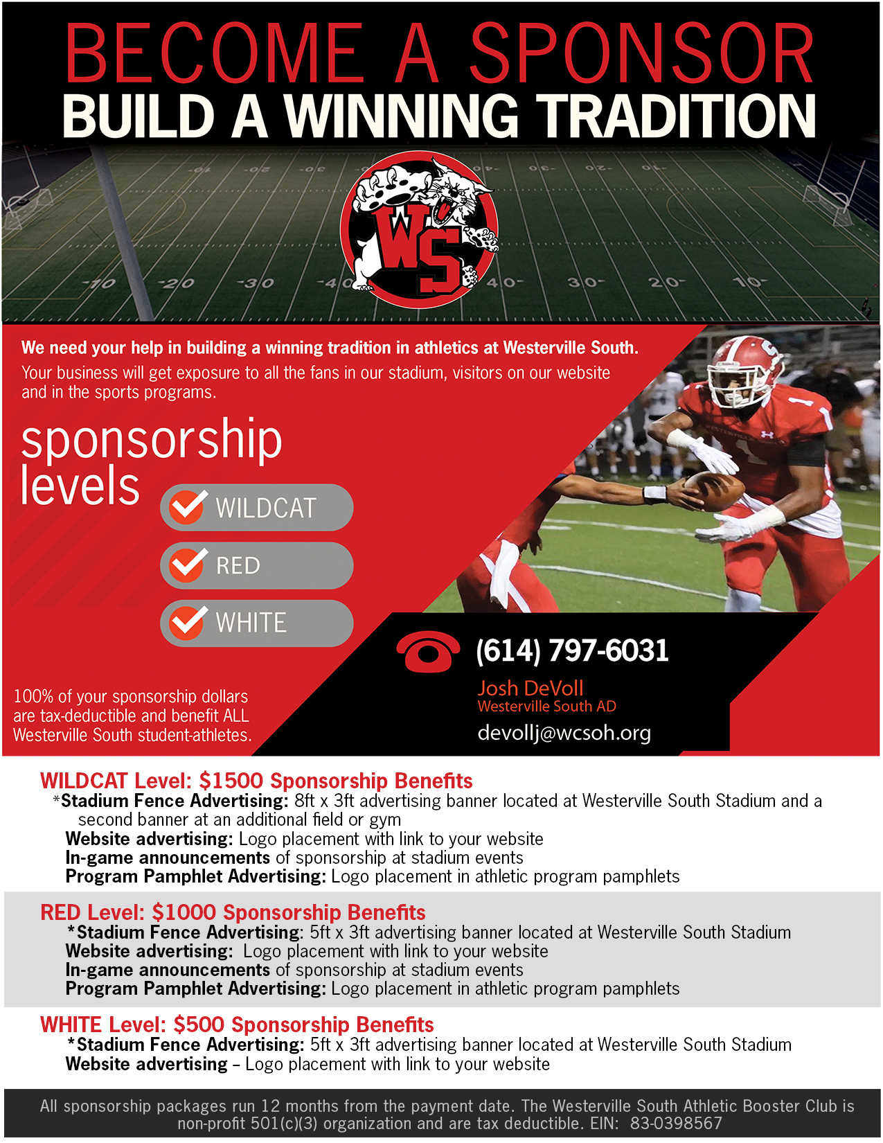 Become a WSHS sponsor TODAY!