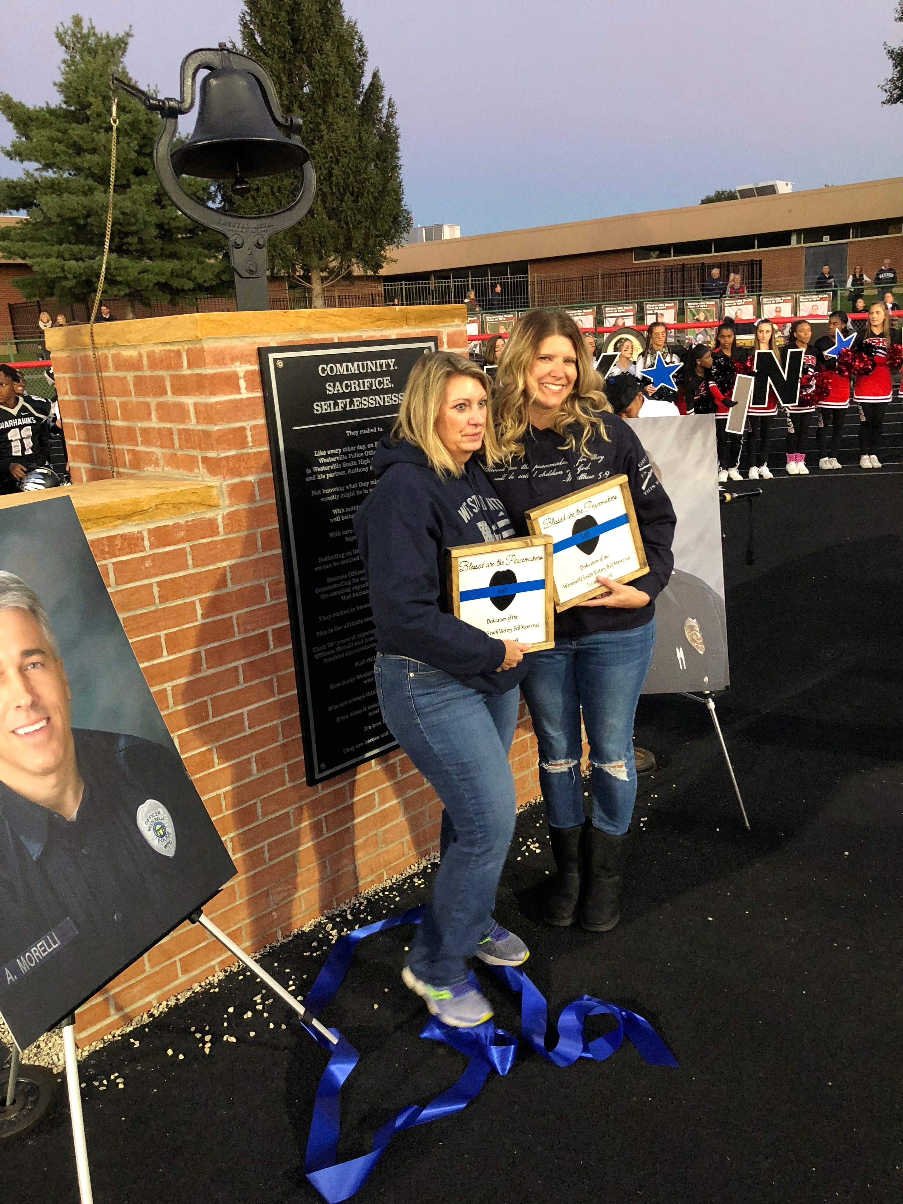 Westerville South Unveils, Dedicates Victory Bell