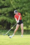 Lady Wildcat Varsity golf team wins one of two last evening
