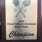 CHAMPIONS of 2018 West Valley Tournament