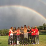 cross country with rainbow