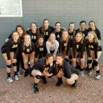 Apache Junction High School Girls Varsity Volleyball beat Washington High School 3-2