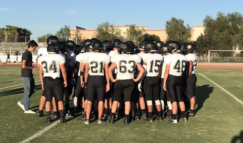Apache Junction High School Varsity Football falls to Seton Catholic High School 28-13