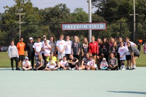 Girls Soccer Volunteers with AAC Adaptive Sports