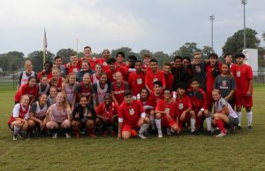 Boys and Girls Soccer Senior Practice Scrimmage