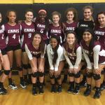 Ennis High School Girls Varsity Volleyball beat Nacogdoches High School 3-0