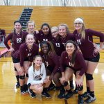 Ennis Girls 8th Grade Volleyball A beat Red Oak Junior High 2-1