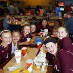 8th Grade A Volleyball loses to Corsicana during Tournament