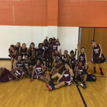 Ennis Girls 7th Grade Basketball A beat Lancaster High School 18-16
