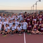 80 Compete in JH Intersquad Tennis Match