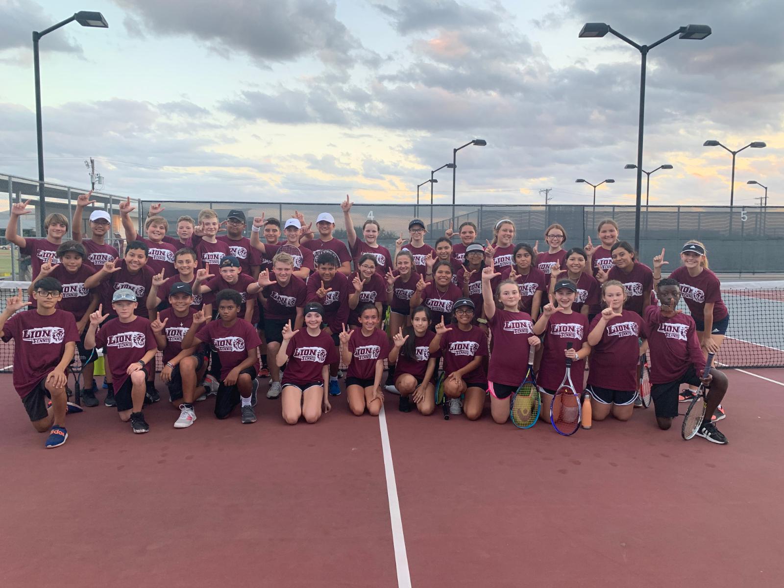 Ennis JH Tennis Defeats Waco Midway 16-15