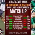 Ennis vs Frisco Reedy Playoff Ticket Sales