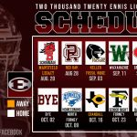 Ennis Lions 2020 Football Schedule